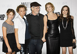 Steven Spielberg and daughter, Mikaela (2nd Left) with Drew Barrymore and Ellen Page during the premiere of the new movie from FOX Searchlight Pictures WHIP IT, held at Grauman's Chinese Theatre, on September 29, 2009, in Los Angeles.