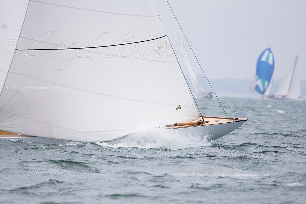 Angelita sailing in the Sail Nantucket Regatta, day one.