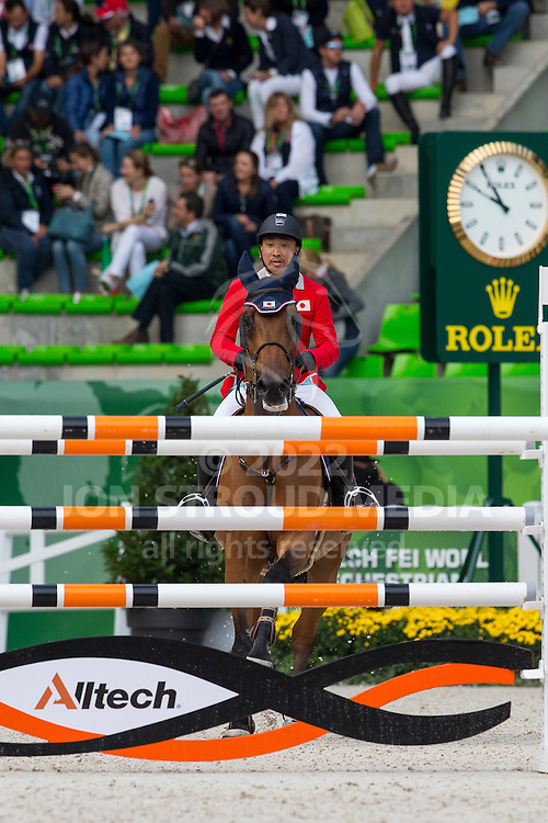 Satoshi Hirao, (JPN), Ulano - Team & Individual Competition Jumping Speed - Alltech FEI World Equestrian Games™ 2014 - Normandy, France.<br /> © Hippo Foto Team - Leanjo De Koster<br /> 02-09-14