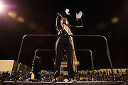 The Milpitas marching band performs during halftime during the Homecoming game against Saratoga at Milpitas High School in Milpitas, California, on October 10, 2014. Milpitas beat Saratoga 49-0. (Stan Olszewski/SOSKIphoto)