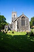 Village parish church of Saint Mary, Wilby, Suffolk, England, UK