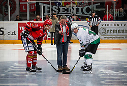 Klemen Kosir during ice hockey match between HK SIJ Acroni Jesenice and HK SZ Olimpija in Round #12 of Alps Hockey League 2018/19 , on October 27, 2018 in Podmezakla hall , Jesenice, Slovenia. Photo by Urban Meglic / Sportida