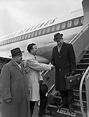 1961 - Noel Clery, (Jacob's Biscuits) leaves for tour of the United States