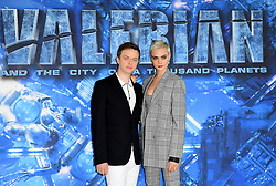 Dane DeHaan and Cara Delevingne attending the Valerian Photo call at The Langham Hotel, London.