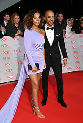 Rochelle Humes and Marvin Humes attending the National Television Awards 2018 held at the O2, London. Photo credit should read: Doug Peters/EMPICS Entertainment