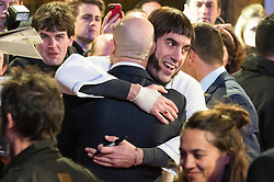 © Licensed to London News Pictures. 22/02/2016. MARK STRONG and SACHA BARON COHEN attends the GRIMSBY Film premiere. The film centres around a black-ops spy whose brother is a football hooligan.  London, UK. Photo credit: Ray Tang/LNP