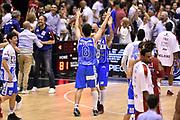 DESCRIZIONE : Milano Lega A 2014-15 EA7 Emporio Armani Milano vs Banco di Sardegna Sassari playoff Semifinale gara 7 <br /> GIOCATORE : Giacomo De Vecchi Brian Sacchetti<br /> CATEGORIA : esultanza postgame<br /> SQUADRA : Banco di Sardegna Sassari<br /> EVENTO : PlayOff Semifinale gara 7<br /> GARA : EA7 Emporio Armani Milano vs Banco di Sardegna SassariPlayOff Semifinale Gara 7<br /> DATA : 10/06/2015 <br /> SPORT : Pallacanestro <br /> AUTORE : Agenzia Ciamillo-Castoria/GiulioCiamillo<br /> Galleria : Lega Basket A 2014-2015 Fotonotizia : Milano Lega A 2014-15 EA7 Emporio Armani Milano vs Banco di Sardegna Sassari playoff Semifinale  gara 7 Predefinita :