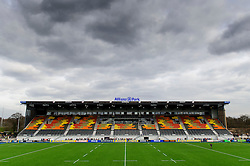 The new East Stand at Allianz Park as seen before the match - Photo mandatory by-line: Rogan Thomson/JMP - Tel: Mobile: 07966 386802 16/02/2013 - SPORT - RUGBY - Allianz Park - Barnet. Saracens v Exeter Chiefs - Aviva Premiership. This is the first Premiership match at Saracens new home ground, Allianz Park, and the first time Premiership Rugby has been played on an artificial turf pitch.