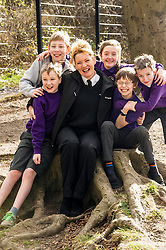 """Pictured: Danny Johnston, Matthew Myddelton, Isla Wilkie, Rodd Hibberd and  Jack Flockhart (pigeon rescuers all aged 11) with Lee Williams, Education Officer.<br /> <br /> The Scottish SPPA launched the education programme at Buckstone Primary School in Edinburgh today. The animal welfare charity's head of education and policy Gilly Mendes Ferreira and Dr Jo Williams, senior lecturer in clinical and health psychology, came along to start the programme at the school. P1 girls held a """"dress up as your favourite animal day"""" on Friday and raised £417.50which was presented a cheque to Lee Williams, Education Officer, of the Scottish SPCA.  Isla Wilkie and the boys found a pigeon in the playground trapped between the fence and a neighbours fence. They called the Scottish SPCA (Isla did) as they remembered the phone number from a recent education visit by Scottish SPCA.<br /> <br /> Ger Harley 