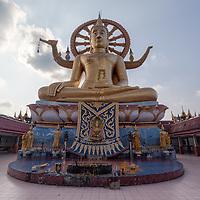 Big Buddha statue in Wat Phra Yai in Koh Samui.