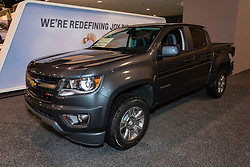CHARLOTTE, NORTH CAROLINA - NOVEMBER 20, 2014: Chevrolet Colorado pickup truck on display during the 2014 Charlotte International Auto Show at the Charlotte Convention Center.
