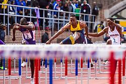 Penn Relayscollege men 110 meter hurdle championship, Joshua Thompson, LSU
