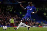 Antonio Rudiger of Chelsea in action. Carabao Cup , semi final 1st leg match, Chelsea v Arsenal at Stamford Bridge in London on Wednesday 10th January 2018.<br /> pic by Steffan Bowen, Andrew Orchard sports photography.