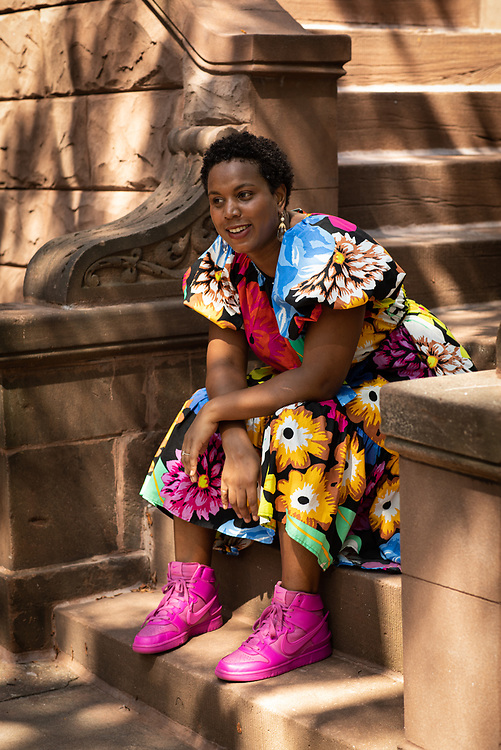 Brooklyn, NY - August 25, 2021: Portraits of Chef Brianna Cooper-Spruce in Bedford-Stuyvesant.<br /> <br /> Photo by Clay Williams.