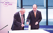 Holocaust Memorial Day <br /> A ceremony to commemorate Holocaust Memorial Day in a ceremony in the Chamber at City Hall, London, Great Britain<br /> 22nd January 2018 <br /> <br />  <br /> Mayor and Assembly join Londoners for Holocaust Memorial Day ceremony<br />  <br /> <br /> <br /> <br /> Manfred Goldberg<br /> Holocaust Survivor<br /> And <br /> Kemal Pervanic<br /> Survivor of Bosnian Genocide<br /> Light the memorial candle