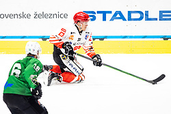 Jaka Sodja of HDD SIJ Acroni Jesenice during ice hockey match between HK SZ Olimpija and HDD SIJ Acroni Jesenice in first game of Final at Slovenian National League, on May 5, 2021 in Hala Tivoli, Ljubljana, Slovenia. Photo by Matic Klansek Velej / Sportida