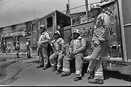 LAFD firefighters on W.Adams Blvd.