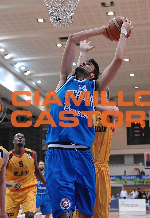DESCRIZIONE : Trento Nazionale Italia Uomini Trentino Basket Cup Italia Belgio Italy Belgium<br /> GIOCATORE : Riccardo Cervi<br /> CATEGORIA : schiacciata<br /> SQUADRA : Italia Italy<br /> EVENTO : Trentino Basket Cup<br /> GARA : Italia Belgio Italy Belgium<br /> DATA : 12/07/2014<br /> SPORT : Pallacanestro<br /> AUTORE : Agenzia Ciamillo-Castoria/A.Scaroni<br /> Galleria : FIP Nazionali 2014<br /> Fotonotizia : Trento Nazionale Italia Uomini Trentino Basket Cup Italia Belgio Italy Belgium