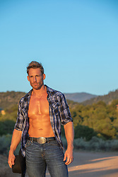 hot cowboy with open shirt