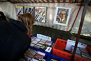 Berlin 2009. Twenty years after the fall of the Berlin Wall which I photographed in 1989 for the Independent Newspaper I returned to photograph the changes that have happened over the past 20 years..Flea Market in the Eastern sector on Museum Island. Picture of former DDR leader Eric Honecker for sale..COPYRIGHT PHOTOGRAPH BY BRIAN HARRIS  © 2009.07808-579804