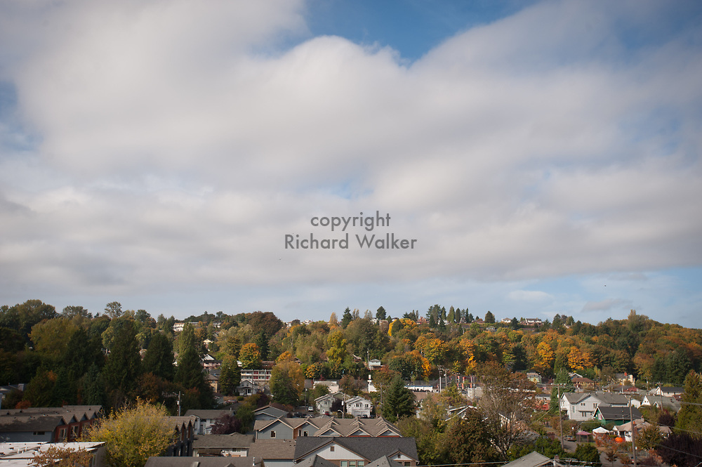 2012 October 15 - View of homes west of Columbia City, Seattle, WA. By Richard Walker