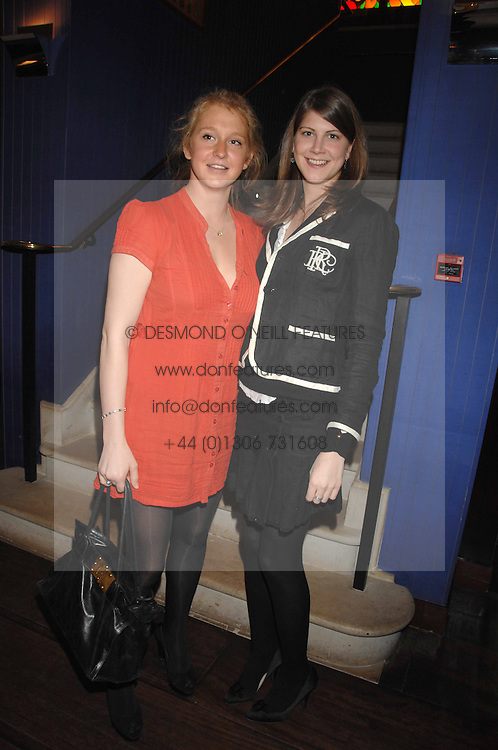 Left to right, OCTAVIA DICKINSON and PRINCESS FLORENCE VON PREUSSEN at an exhibition of photographs by Olivia Buckingham held at China Tang, The Dorchester, Park Lane London on 5th March 2007.<br />