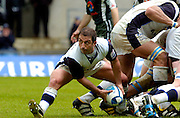 2005 European Challenge Cup Final Sale Sharks v Pau, ENGLAND, 21.05.2005, Bryan redpath collects the ball from the base of the scrum.<br /> Photo  Peter Spurrier. <br /> email images@intersport-images