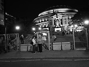 Security barriers outside the Royal Albert Hall. London. 26 August 2017
