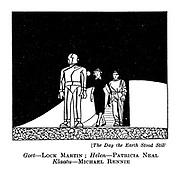 (The Day the Earth Stood Still) Gort - Lock Martin; Helen - Patricia Neal. Klaatu - Michael Rennie.