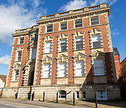Historic building c 1913 former Ushers brewers then council offices, Hill Street, Trowbridge, Wiltshire, England, UK