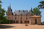 The main building of the estate Chateau de Pressac St Etienne de Lisse Saint Emilion Bordeaux Gironde Aquitaine France