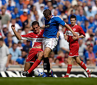 Photo: Jed Wee.<br />Glasgow Rangers v Middlesbrough. Pre Season Friendly. 22/07/2006.<br /><br />Rangers' Libor Sionko (R) is challenged by Middlesbrough's Adam Johnson.