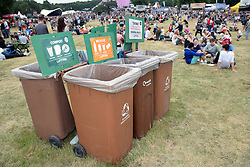 Latitude Festival 2017, Henham Park, Suffolk, UK. Recycling & waste bins