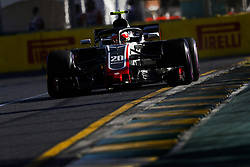 March 23, 2018 - Melbourne, Victoria, Australia - MAGNUSSEN Kevin (dnk), Haas F1 Team VF-18 Ferrari, action during 2018 Formula 1 championship at Melbourne, Australian Grand Prix, from March 22 To 25 - Photo  Motorsports: FIA Formula One World Championship 2018, Melbourne, Victoria : Motorsports: Formula 1 2018 Rolex  Australian Grand Prix, (Credit Image: © Hoch Zwei via ZUMA Wire)