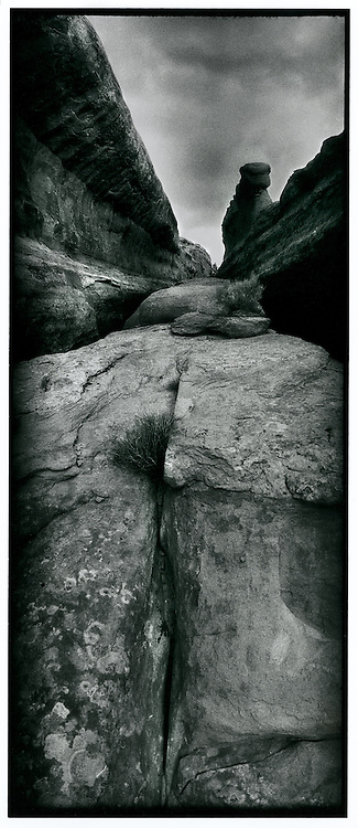 Sandstone crack, Eagle Park, Arches National Park