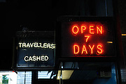 Neon signs, Circular Quay train station, Sydney, Australia