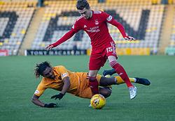 Livingston Dolly Menga and Aberdeen's Scott Wright. Livingston 1 v 2 Aberdeen, SPFL Ladbrokes Premiership played 29/1/2018 at Livingston home ground, Tony Macaroni Arena.