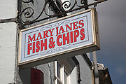 Mary Janes fish and chips, Cromer, Norfolk, England