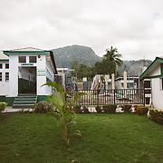 INDIVIDUAL(S) PHOTOGRAPHED: N/A. LOCATION: Sacré-Cœur Hospital, Milot Commune, Cap-Haïtien, Haïti. CAPTION: A view of the Sacré-Cœur Hospital in Milot.