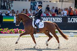 BRUNKHORST Juliane (GER), Asgard's Ibiza<br /> Ermelo - World Breeding Dressage Championsships for Young Horses 2018<br /> Weltmeisterschaft Junge Dressurpferde<br /> Qualifikation 5jährige Dressurpferde<br /> 02. August 2018<br /> © www.sportfotos-lafrentz.de/Stefan Lafrentz