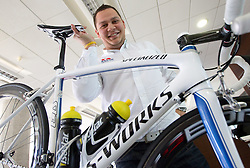 Mechanic Dejan Rifelj at press conference of Pro Cycling Team Adria Mobil Novo mesto before new season, on March 8, 2011 at ACH, Ljubljana, Slovenia. (Photo By Vid Ponikvar / Sportida.com)