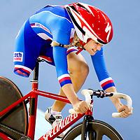 Engeland, Londen, 01-09-2012.<br /> Paralympische Spelen.<br /> Wielrennen, Vrouwen, Tijdrit Individueel C1-C2-C3 500 meter.<br /> Tereza Diepoldova uit Tsjechie wordt 9e en laatste in de finale.<br /> Foto : Klaas Jan van der Weij