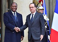 Paris - Francois Hollande Meets Alassane Ouattara - 21 Nov 2016