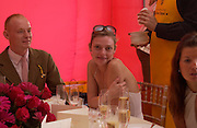 Rufus Abbott and Camilla Rutherford, Veuve Clicquot gold Cup, Polo at Cowdray, 18 July 2004. SUPPLIED FOR ONE-TIME USE ONLY> DO NOT ARCHIVE. © Copyright Photograph by Dafydd Jones 66 Stockwell Park Rd. London SW9 0DA Tel 020 7733 0108 www.dafjones.com