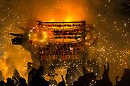Quema de toritos el día 8 de marzo, en honor de San juan de Dios.