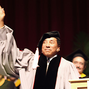 Smoky Robison says good bye to the  graduates at  the Berklee's Commencement 2009. Robison receives an honorary degree for his achievements and influence in music....