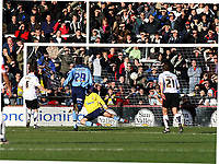 Photo:Mark Stephenson,Herford united v Port vale.<br />fa cup 2-11-2006.Herefords Robert Purdie scores a goal.