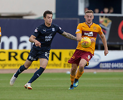 Dundee's Jesse Curran and Motherwell's Allan Campbell. Dundee 1 v 3 Motherwell, SPFL Ladbrokes Premiership game played 1/9/2018 at Dundee's Kilmac stadium Dens Park