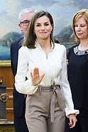 030918 Queen Letizia attends audiences at Zarzuela Palace