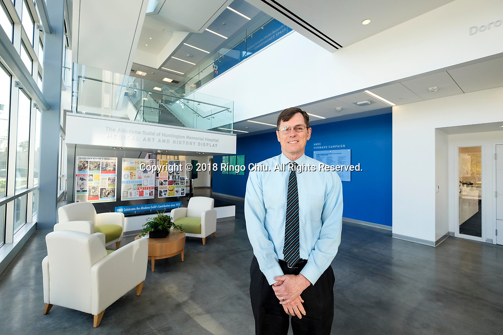 Frank Davis, interim chief executive of Huntington Medical Research Institutes in Pasadena. (Photo by Ringo Chiu)<br /> <br /> Usage Notes: This content is intended for editorial use only. For other uses, additional clearances may be required.